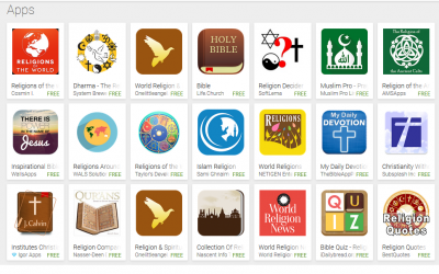 Anthropological study of religion-themed mobile apps underway